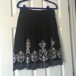 Ann Taylor embroidered skirt